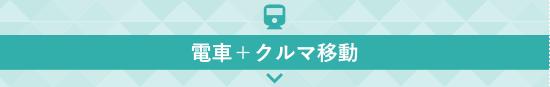 電車+クルマ移動